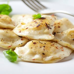 Sauerkraut and Mushrooms pierogi